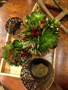 Succulents add a very on-trend touch