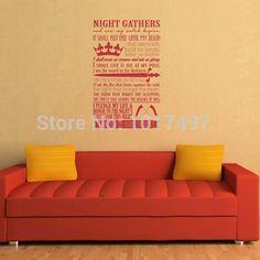 Night's Watch Oath Vinyl Wall Art Decal Sticker, 90x60cm //Price: $30.97 & FREE Shipping //     #robbstark #motherofdragons #grrm #housestark #books  #winterfell #jaimelannister #westeros #gots7