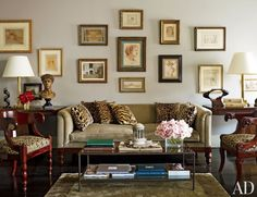 Decorating with Animal Prints:  Living Room in New York, New York
