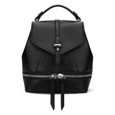 Yoins Leather-Look Mini Backpack (645 CZK) ❤ liked on Polyvore featuring bags, backpacks, black, handbags, rucksack bag, backpacks bags, snap bag, mini rucksack and vegan leather bags