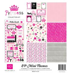 Echo Park - Princess (Little Girl) Mini Scrapbook Kit. Contents: six high-quality double-sided papers and one Element Stickers. Scrapbook Generation, Paper Manufacturers, Echo Park Paper, Paper Companies, Princess Collection, Travel Scrapbook, Scrapbook Kit, Simple Stories, Wedding Quotes