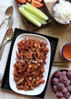 Just Try & Taste: Resep Sambal Merah Cumi Asin, Teri dan Kentang