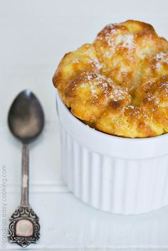 Savory Cheese and Cornmeal Soufflé @SECooking | Sandra #homemade #recipes #food