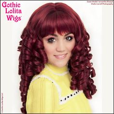 Gothic Lolita Wigs® Ringlet Redux™ Collection - Burgundy – Dolluxe® #hairstyle #beautiful #pretty #gothiclolitawigs #GLW #IAMDOLLUXE #wig #red #readhead #perfectcurls