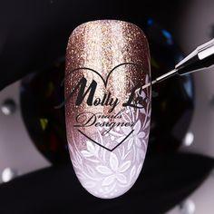 Nail Art Designs Videos, Nail Art Videos, Diy Nail Designs, Cute Nail Art, Nail Art Diy, Drip Nails, Gel Nails, Airbrush Nails, New Nail Art Design