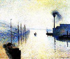 """Ile Lacruix, Rouen. Effect of Fog."" 1888."