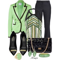 Pistachio & Black, created by anna-campos on Polyvore
