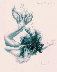 art,арт,красивые картинки,mermaid,русалка