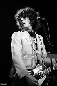 Marc Bolan performs at Wembley Arena, 1977.