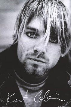 Kurt Cobain Signature Stare Nirvana Music Poster 24x36