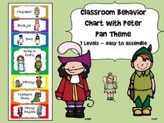 peter pan lesson plans peter pans short essay and learning styles a great peter pan themed behavior chart perfect for any classroom included are 7