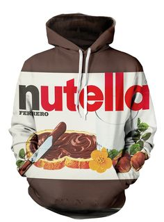 Nutella All Over Print Pullover Hoodie| Scruffy Swanks