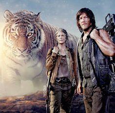 NORMAN REEDUS aka Daryl Dixon on The Walking Dead (AMC), Carol and Shiva