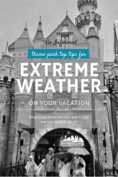 Tips and tricks for when you get caught in the rain on your theme park   vacation. Proven advice to help you carry on even in the biggest   downpour. Read this before you head to Disney World, Universal Orlando,   or even Disneyland. Walt Disney World Vacations, Best Vacations, Disney Parks, Universal Studios Florida, Universal Orlando, Disney World Tips And Tricks, Disney Tips, Disney Dining Tips, Disney Planner