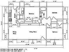 Floor plan for the Kodiak Steel Homes Rosemont: 1,025 Square Feet. #steel #floorplans #architecture