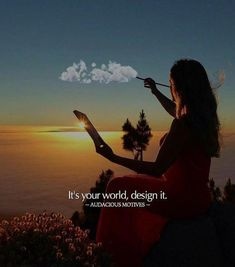 Positive Quotes : QUOTATION – Image : Quotes Of the day – Description Its your world design it. Sharing is Power – Don't forget to share this quote ! https://hallofquotes.com/2018/04/09/positive-quotes-its-your-world-design-it/