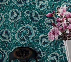Modern wallpaper patterns are a wonderful way to create spectacular and unique accent wall design. Beautiful wall decoration with attractive and interesting wallpaper patterns and stylish colors enhances modern interior decorating and create harmony with existing or new furniture and home decor acce