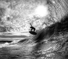 surfing / Black and White Photography