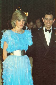 March 28,1983: Prince Charles & Princess Diana at Wentworth Hotel for the Sydney Charity Ball during the Royal Tour of Australia.