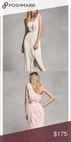 Vera Wang Bridesmaid/Dress Brand NEW, never worn Vera Wang bridesmaid dress. Can be worn for a wedding, or a night out! Color is Ivory, size 14.....run small. Vera Wang Dresses Wedding