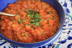 Phil's lentil soup - a family favourite that's quick and easy to prepare. I mean, Monday-night easy, it's so quick. Beautiful Soup, Plant Based Protein, Lentil Soup, Green Kitchen, Meatless Monday, Kitchen Recipes, Recipe Collection, Lentils, Great Recipes