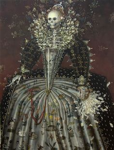 (Magical Realism) Selected works by Julie Heffernan, Haruko Maeda, Dolly Thompsett at All Visual Arts in London.