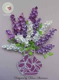 Selma's Stamping Corner and Floral Designs: Vase of Lilacs