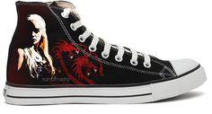 Game OF Thrones - Khaleesi Handpainted Converse Shoes