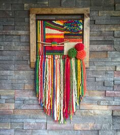 Woven wall hanging by Telaresyflecos on Etsy Weaving Textiles, Weaving Art, Tapestry Weaving, Loom Weaving, Hand Weaving, Weaving Wall Hanging, Tapestry Wall Hanging, Embroidery Designs, Weaving Projects