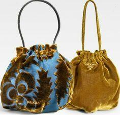 Prada Velluto Wristlet Pouch - Another! Prada Handbags, Prada Bag, Purses And Handbags, Sac Vanessa Bruno, Potli Bags, Boho Bags, Fabric Bags, Vintage Bags, Handmade Bags