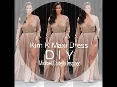 DIY: Kim K Maxi Dress (Michael Costello Inspired) - YouTube