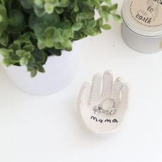 This hand-shaped ring dish makes the absolute sweetest gift and is a totally doable DIY project with kids. Perfect for someone special!