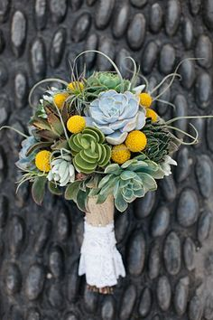 Slate Stone and Succulents Wedding Idea (BridesMagazine.co.uk) (BridesMagazine.co.uk)
