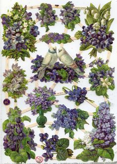 PURPLE GARDEN Die Cuts by OneDayLongAgo on Etsy, $2.95                                                                                                                                                                                 More