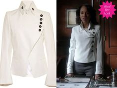 Olivia Pope white jacket. So classic and adorable!