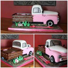 Sandras Cakes  Antique Pick Up Truck for Bridal Shower Celebratio.