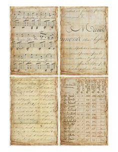 Sheet oude fragmenten 1 | Teksten & Spreuken | Nostalgie & Brocante