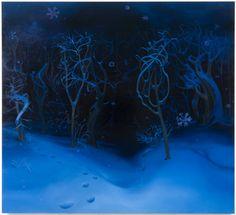"Inka Essenhigh  ""The Snow at Night"""