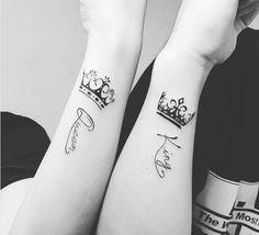 tatuajes de rey y reina en los brazos