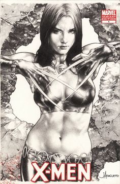 ECCC 2014 X-23 by Jay Anacleto, in Kirk Dilbeck's 3-Wishes presents: Jay Anacleto Pin Ups Comic Art Gallery Room - 1128417