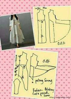 Sewing Hacks, Sewing Tutorials, Sewing Projects, Dress Sewing Patterns, Clothing Patterns, Fashion Sewing, Diy Fashion, Sewing Clothes, Diy Clothes