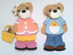 2 Easter Spring One Girl and One Boy Costume Tear Bears Kira AP4P | eBay