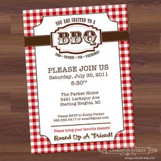 BBQ  Party Western Barbecue Barbeque Birthday by LarkspurStreet, $14.00