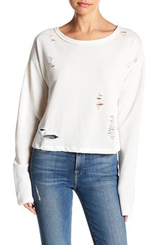 On The Road Distressed Cold Shoulder Sweater
