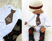Fall Thanksgiving Baby Boy Give Thanks Tie Bodysuit & Leg Warmers SET. Baby's 1st Thanksgiving Harvest Autumn Personalized Brown Burgundy