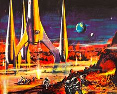 Vintage Space Art | First Spaceship on Venus (from the 1960 East Germany/Poland film)