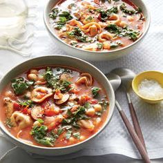 This satisfying vegetarian main is a great way to reset after a few weeks of meat-centered holiday eating. Make sure to cool the soup bas...