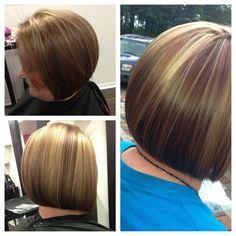 Fall hair color & bob haircut