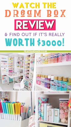 Watch the video and peek inside the new DreamBox from The Original Scrapbox company AND inside my rainbow pastel craft room! Plus Poopers thinking she's a star. Drool over my organised craft supplies, Crafts To Sell, Home Crafts, Diy Home Decor, Diy Crafts, Space Crafts, Craft Storage Furniture, Repurposed Furniture, Guest Room Office, Office Desk