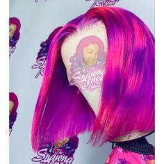 Braided Hairstyles For Black Women Cornrows, Black Hair Updo Hairstyles, Curly Weave Hairstyles, Baddie Hairstyles, Curly Hair Styles, Hair Color Purple, Cool Hair Color, Pink Hair, Colorful Hair